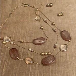 Necklace and 2 pair of earrings